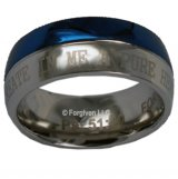 Psalms 51: Blue and Silver Christian Ring