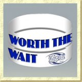 Hot New Worth The Wait 1 inch Silicone Purity Wristband