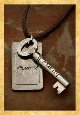 Purity Necklace Key with the word Purity on it
